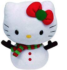 Peluche Hello Kitty Muñeco de Nieve Original Marca Ty Sanrio Juguete Niños Kity