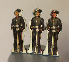 Marx Tin Lithograph Metal SOLDIERS OF FORTUNE ITALIAN Set Of 3 Lot Vintage