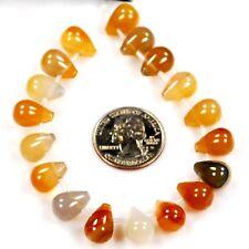 13mm Natural Carnelian Teardrop Spacer Loose Beads 18pcs(CA05)b FREE SHIPPING