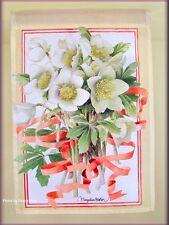 WINTER FLOWERS GARDEN BANNER FLAG 18 x 12 INCHES MARJOLEIN BASTIN FREE U.S. SHIP