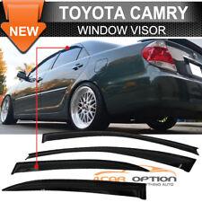 Fits 02-06 Toyota Camry Sun Window Visor Rain Guard Vent Shade Smoke 4Pcs