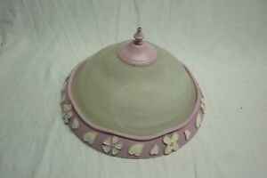 HUNTER ANNABELLE CEILING FAN PARTS LIGHT SHADE GLOBE / FINIAL / TRIM RING PINK