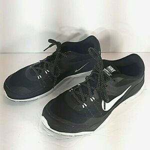 Nike Training Flex TR5 Black White Athletic Shoes 724860-001 Women's Size 8W