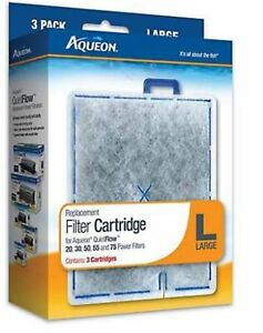 Aqueon It's All About The Fish Replacement Filters Large 3 Pack