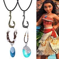 Moana Movie Glowing Music Necklace Jewelry Pendant Princess Cosplay Costume Maui
