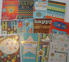 Pack of Male Words 12 Traditional Birthday Cards Men's For Him Greetings Card #2