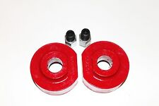 "FORD F150 1980-1996 LIFT KIT FRONT 2"" POLY SPACERS EXTENDER STUDS 4WD RED USA"