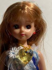 "Takara Tomy Licca Doll Bangs Straight Copper Colored Hair 9"""