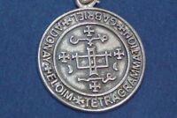 Ciondolo SIGILLO ARCANGELO SAN GABRIELE in argento - simbolo di SAPERE e FORZA