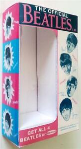 REMCO The BEATLES Repro BOX & Support for John Paul George Ringo Doll Figures