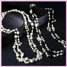 Pearl Necklace No 5 Women Long Simulated Pearl Flower Layer Collares Jewelry