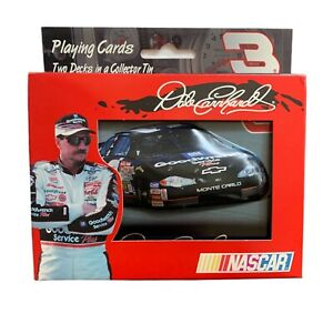 Dale Earnhardt #3 Playing Card Set Dale Earnhardt NASCAR Embossed Collectors Tin