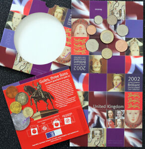 2002 UK Brilliant Uncirculated Coin Collection Set