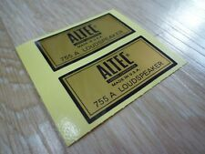 ALTEC LANSING 755A TYPE-A decal sticker - New reproduction for replacement