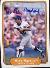 Mike Marshall (CY YOUNG) signed 1982 Fleer #532 (w/ Mets) Inperson w COA