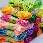 3mm Chinese Knot Satin Nylon Braided Cord Macrame Beading Rattail Thread Cords