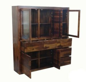 MADE TO ORDER Avalon Solid Wood Display X Large Cabinet 170x40x180 cm