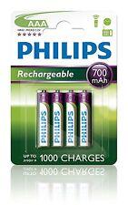 4 x Pilas Philips AAA 700 mAh Recargable Bateria NiMH R03