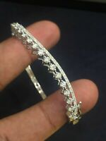 Pave 1,83 Cts F/VS Runde Brilliant Cut Diamanten Armreif Armband In 585 14K Gold