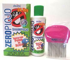 ZEROPIOJO Shampoo Para Piojos 100% Efectivo incluyePeine De Acero 125ml 4.22oz