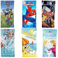 Kids Towel Shower Disney Novelty Character Bath Beach Cotton Wrap Swim Boys Girl