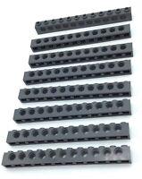 LEGO LOT OF 8 1 x 12 STUD DARK BLUISH GREY BEAM BRICKS TECHNIC BEAMS W/ HOLES