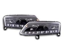 AUDI A6 C6/4 F 2004-2008 Negro Faros LED Luz Diurna Funcionamiento RHD LIBRE P&P NUEVO