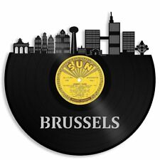 Brussels Vinyl Wall Art Cityscape Vintage Ideal for Home Room Decor Decorative