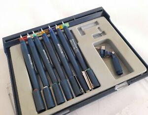 Staedtler Mars Matic 700 Pen Set of 7 Technical Drawing Pen Barrels