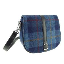 Authentic Ladies Harris Tweed Shoulder Bag Blue LB1000 COL14