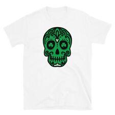 St. Patrick's Day Of The Dead Irish Green Sugar Skull T-Shirt Unisex