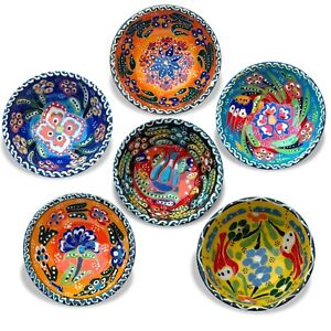 8Cm Small Ceramic Bowls Set of 6 for Snack,Tapas,Dessert, Nuts, Olive, Soy Sauce