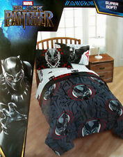 Black Panther Wakanda By Marvel Twin Comforter Sheets 4Pc Bedding Set New