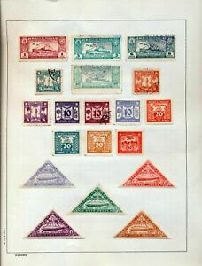 PARAGUAY 1930s Aviation Zeppelin M&U on 2 Pages (35 Items) (Tro413