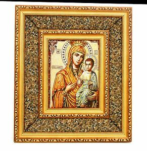 St Mary holding Jesus / Christian wall frame / tapestry / Home decoration