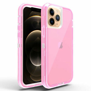 For iPhone 13 Pro Max 11 12 6 7 8 X XS XR Clear Hybrid Shockproof Otter box Case