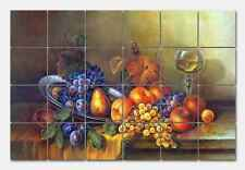 Pila Still Life with Butterfly Marble Mural Backsplash Kitchen 24x16 in