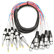 "Male or Female XLR to TRS 1/4"" Audio Snake Cable - 4, 8, 16 Channel - 5' to 20'"