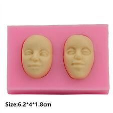 Silicone Cake Fondant Cookie Kuchen Schokolade Mould Decorating Human Faces