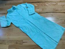 CROFT & BARROW Plush Long ROBE Aqua Color Sz Medium Women