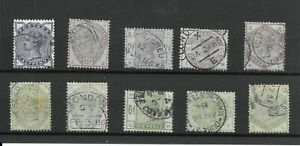 QV 1883 Lilac and green full used set with nice CDS cancels SG 187-196