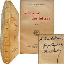 Le Miroir des lettres Deuxième série 1921 Fernand Vandérem critique littéraire 2
