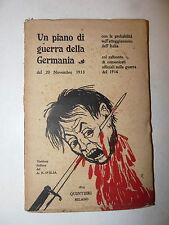 Piano Guerra della Germania 20 Novembre 1913 comunicati ufficiali Italia D'Elia