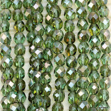100pcs!!!  6mm Round Faceted Fire Polished Czech Beads -  *Pick Your Color*