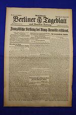 BERLINER TAGEBLATT (27.1.1916): Französische Stellung bei Vimy-Neuville erstürmt