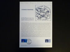 FRANCE MUSEE POSTAL FDC 11-81   LES FONDS MARINS    1,80F  DUNKERQUE   1981