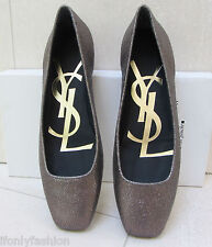 NIB AUTHENTIC YSL YVES SAINT LAURENT SAHARIENNE VULCANO Ballet Flats Shoes 39
