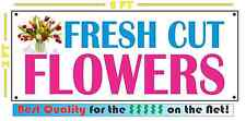 FRESH CUT FLOWERS Full Color Banner Sign for candy gifts chocolate valentine