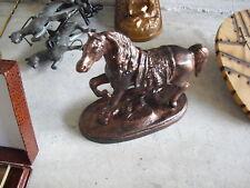 Unique Vintage Bronze Horse Figurine Statue LOOK