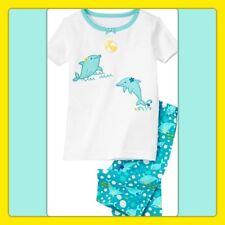 NWT 6 Gymboree DOLPHINS 2pc Cotton GYMMIES Set PJs sleepwear Turquoise